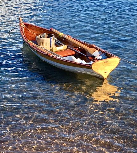 Rowboat anchored at Bayfield, Wisconsin © 2019 photo credit: Elizabeth J. Buckley
