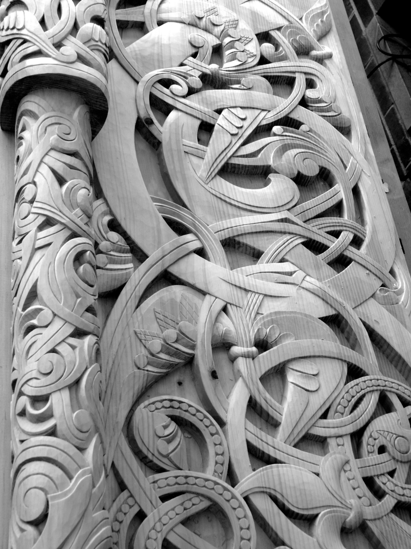 Borgund Portal Replica Detail