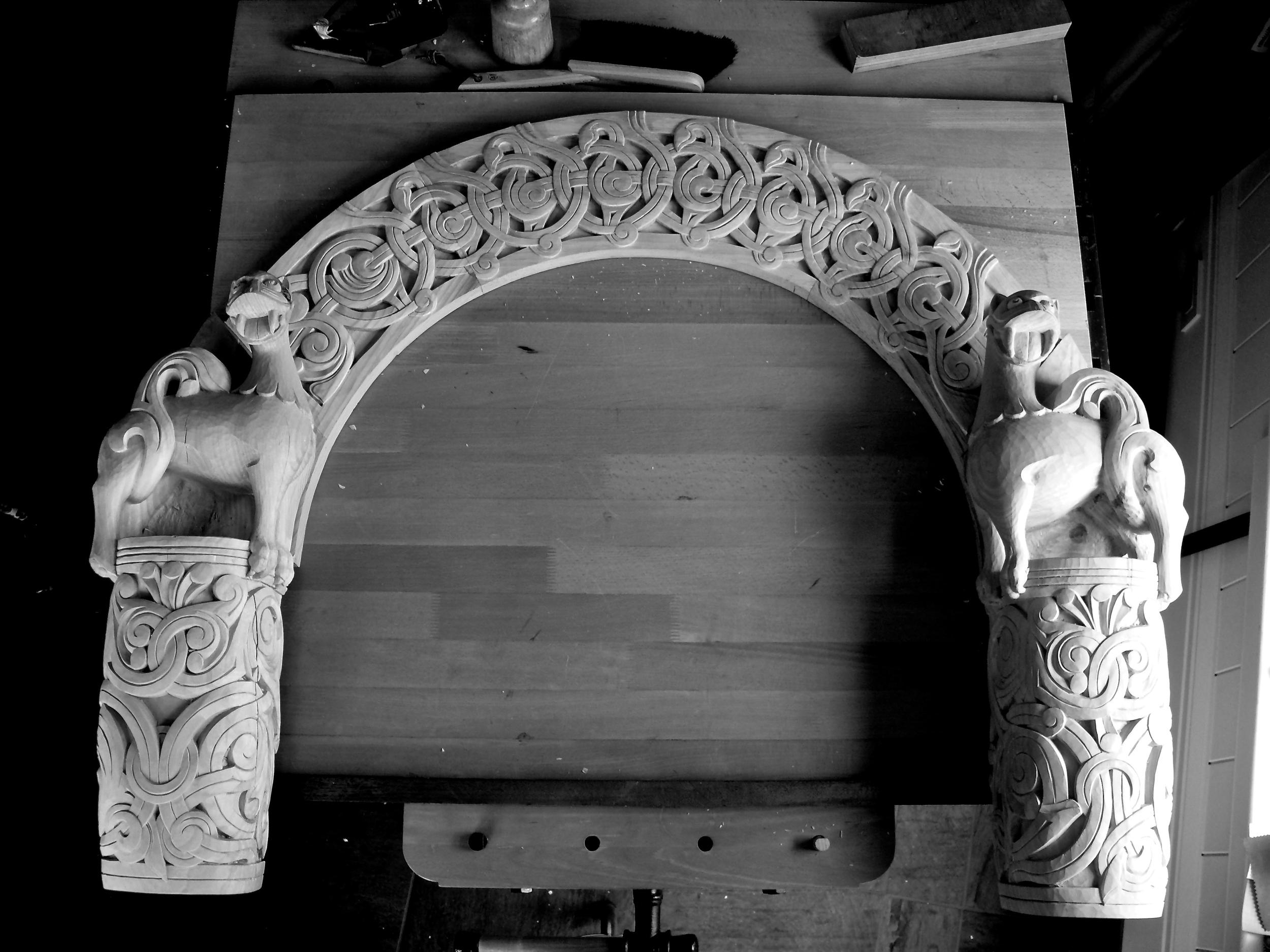 Borgund Stave Church Portal Replica