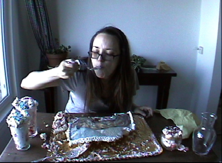 """video stills from 45 minute video """"You Can't Have Your Cake and Eat It Too."""""""