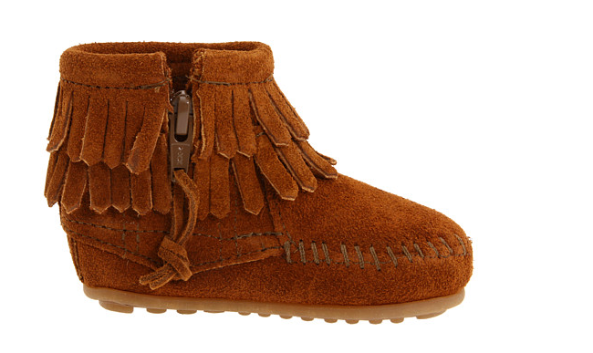 Minnetonka double fringe side-zip bootie  : I love to send these booties as a gift as soon as I find out a friend is pregnant (I buy at least size 3). They are so cute and gender neutral. These were one of our favorite gifts!