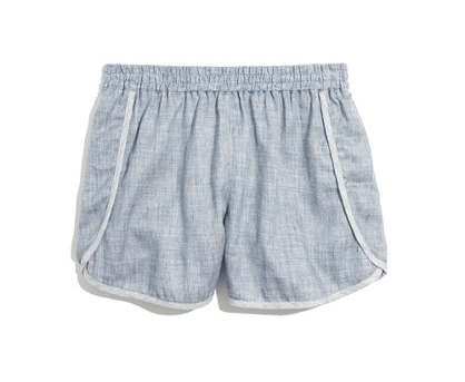 Madewell track shorts   - I only have a couple pairs of shorts in my closet (both are from Madewell last season). I much prefer pants or skirts, but some days (or bike rides) just call for shorts. I like mine to be unstructured like athletic shorts but to appear dressier than that. I'm hoping these will work perfect with a haphazardly tucked in T-shirt and sandals.