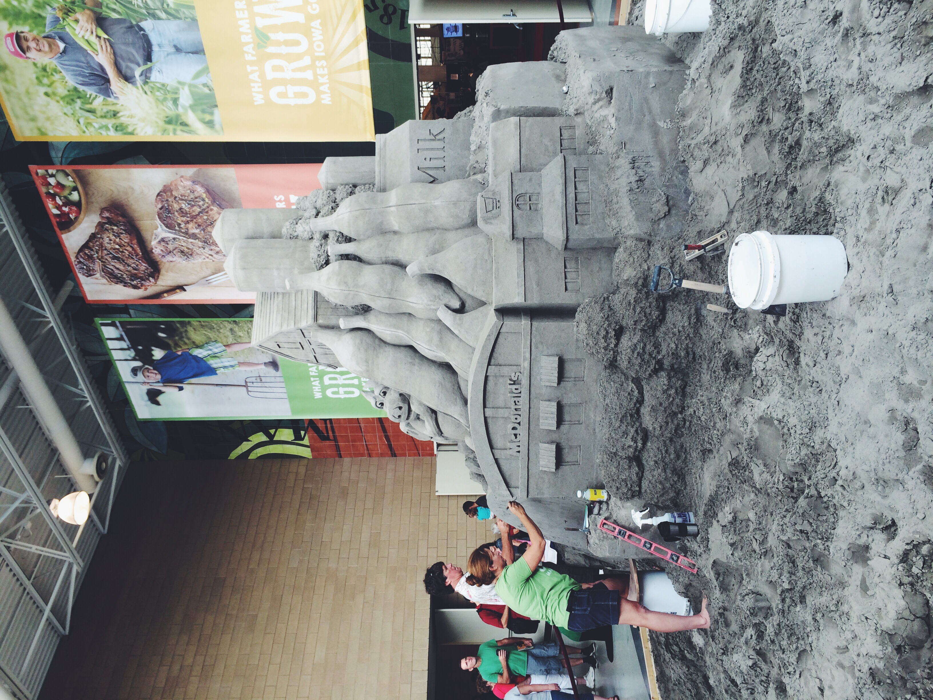 I thought this sand castle in the Varied Industries Building was quite impressive!