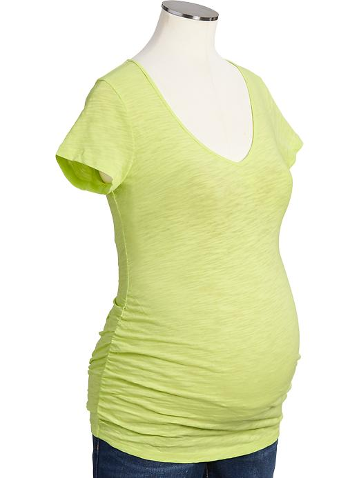 Old Navy v-neck T-shirt : This isn't as soft as the vintage T-shirt, but I love the bright color options. I have it in mint, but also love the neon yellow.