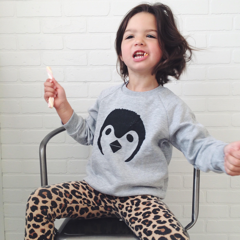penguin sweatshirt  |  leopard leggings