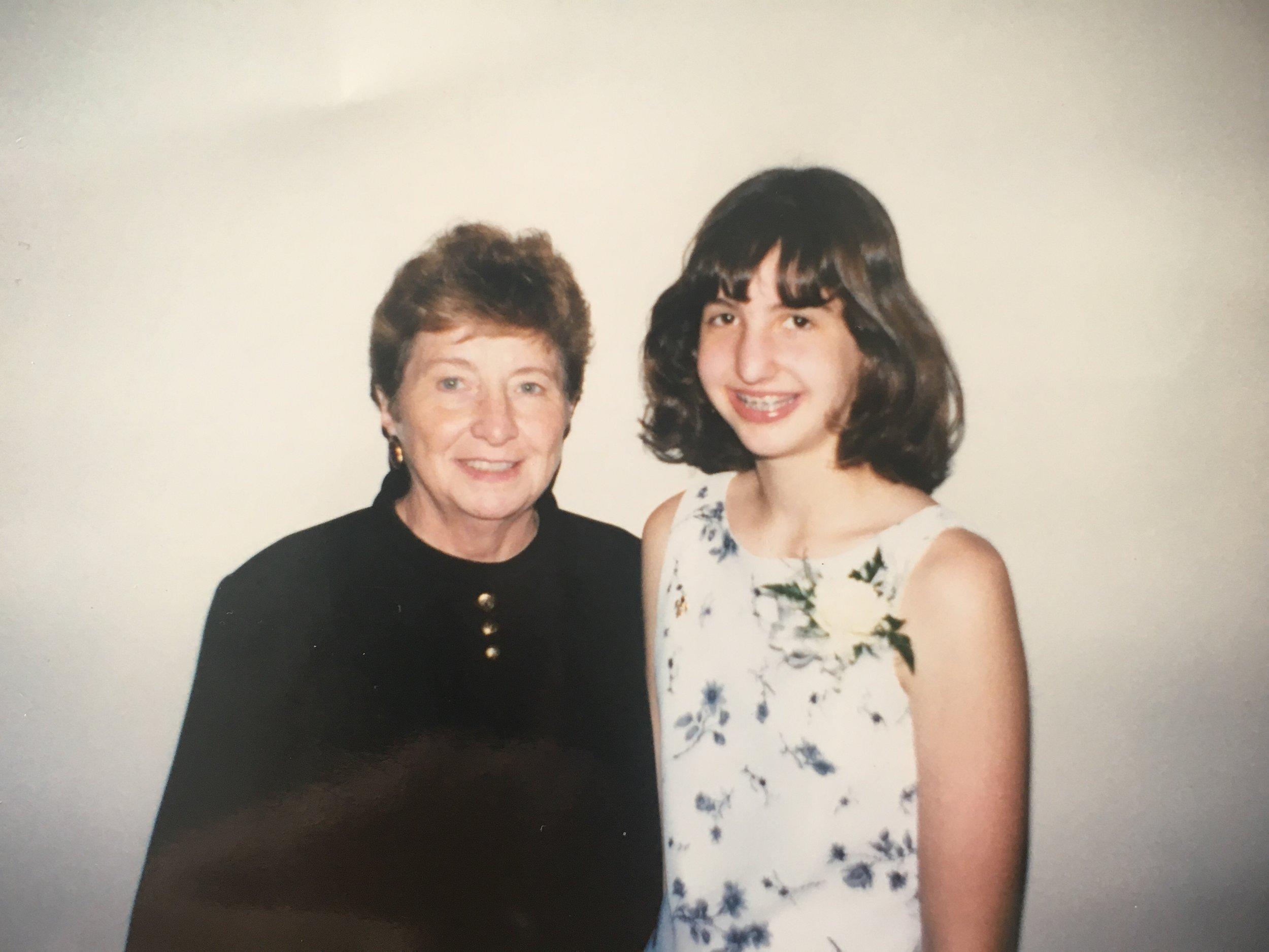 my grandma & me at my 8th-grade confirmation