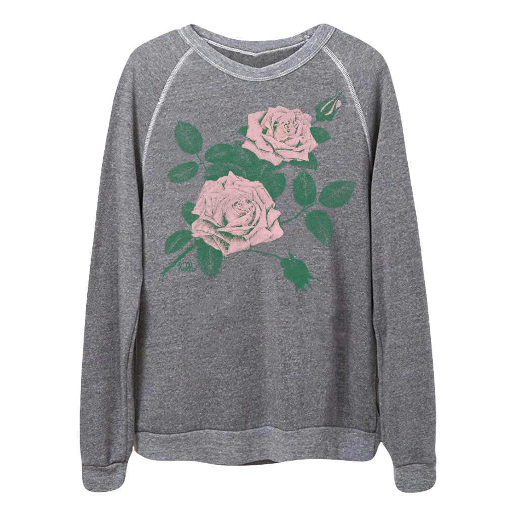 I am obsessed with Alternative Apparel — I now have six of their cozy crewneck sweatshirts and a pair of sweatpants. I love this   floral sweatshirt   I just added to my collection — I'm wearing it as I type this!