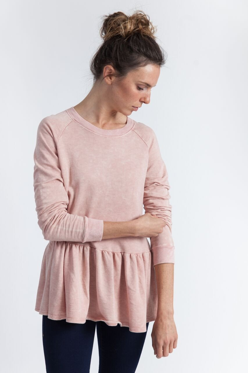 Always on a hunt for more pink, I fell for this   Soel   peplum sweatshirt (sadly it has sold out).