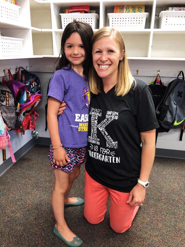 Rooney and her amazing kindergarten teacher, Mrs. Grosse!