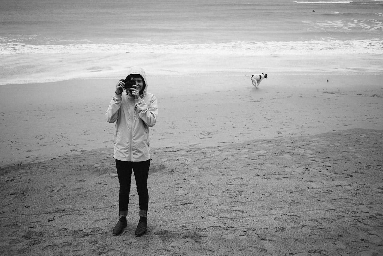 Hannah and a dog