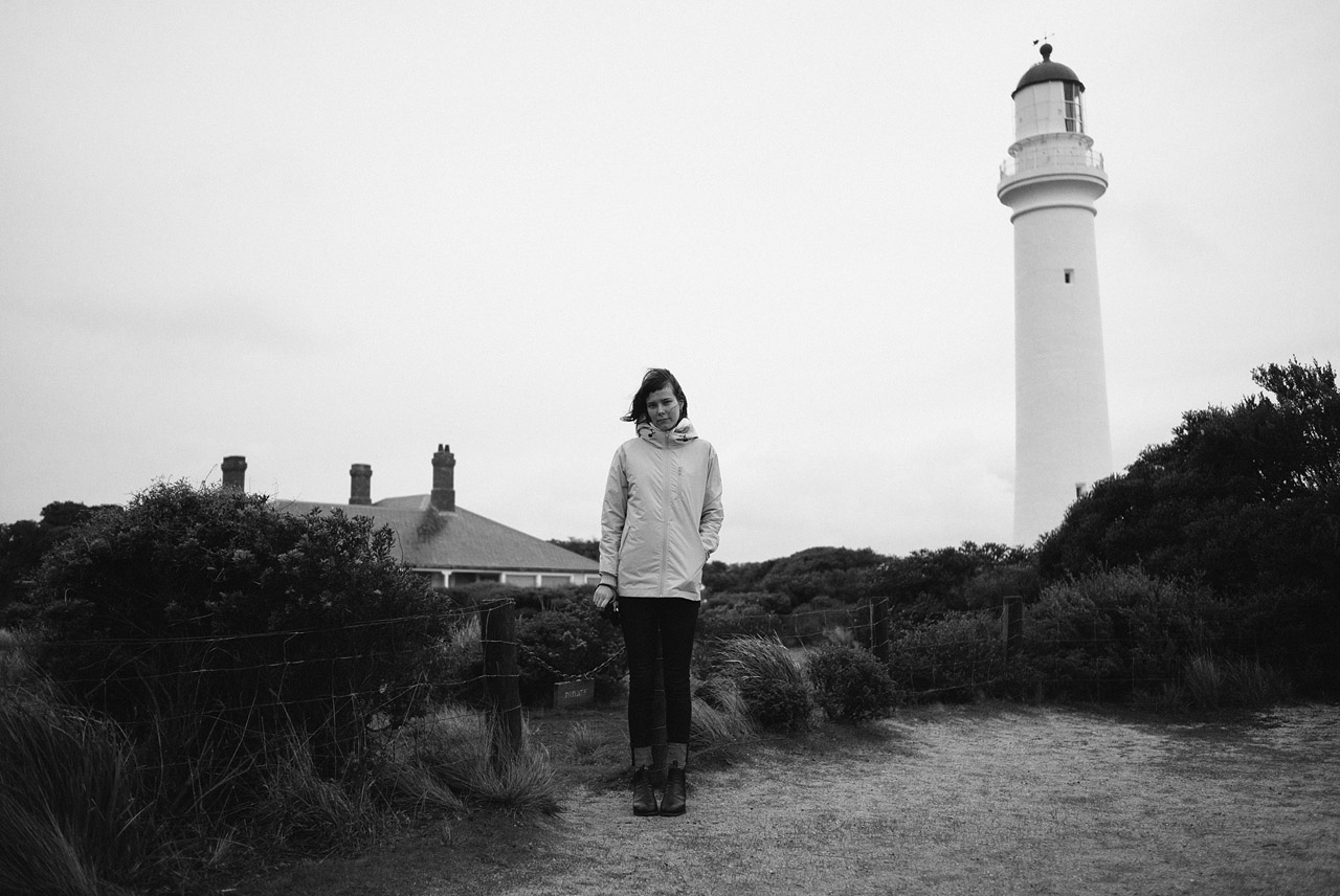 Hannah at Split Point Lighthouse