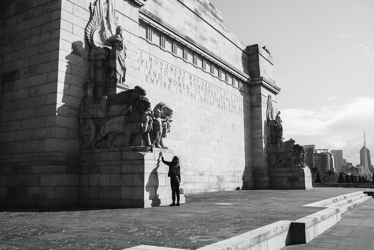Hannah at the Shrine Of Remembrance