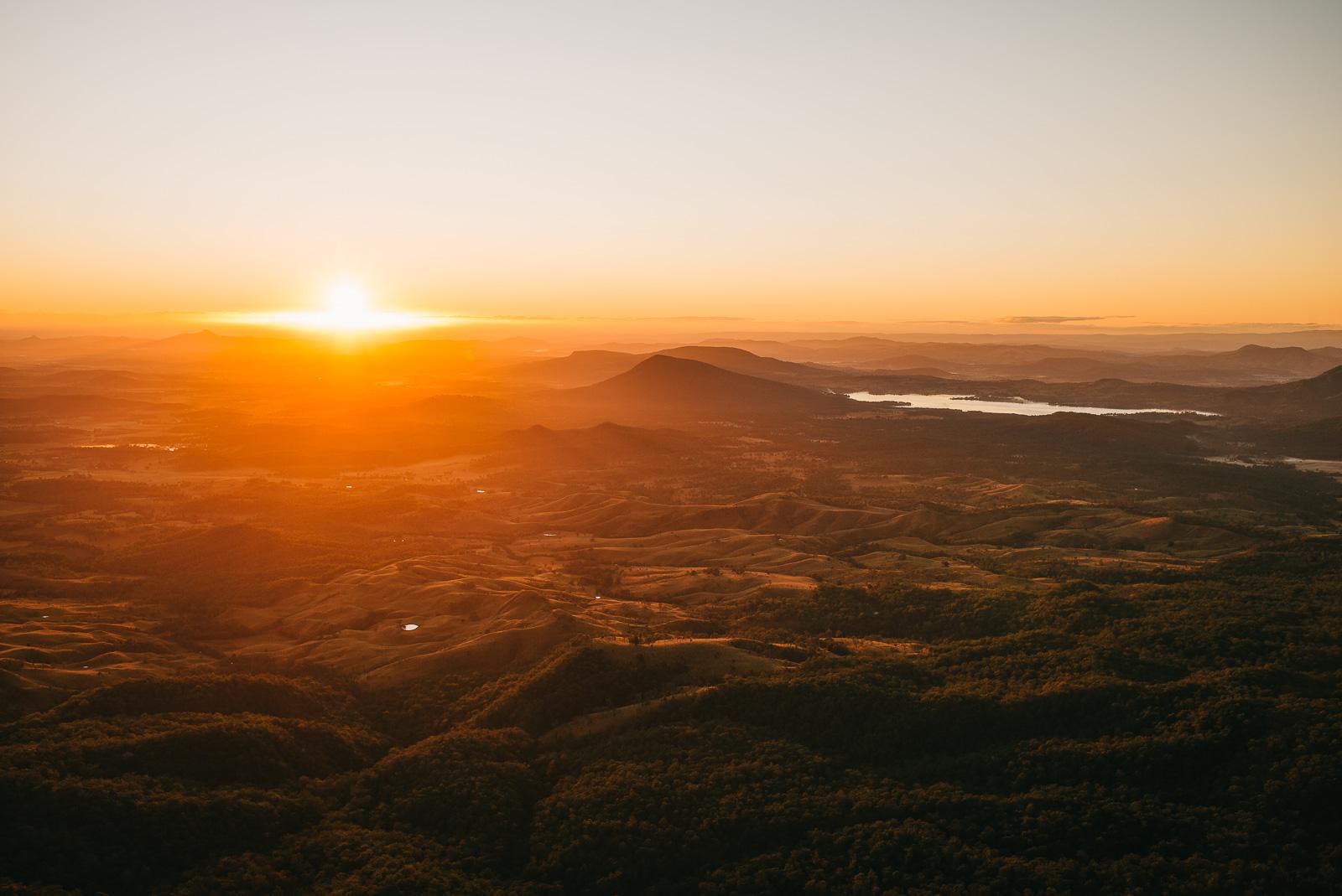 Sunrise on Mount Cordeaux, Cunningham's Gap