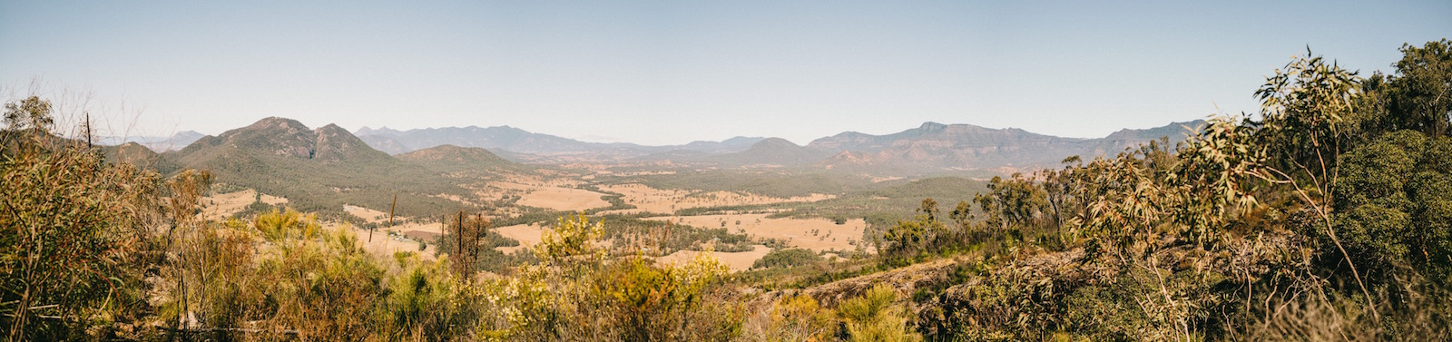 South East Queensland from Mount Greville (facing generally south)