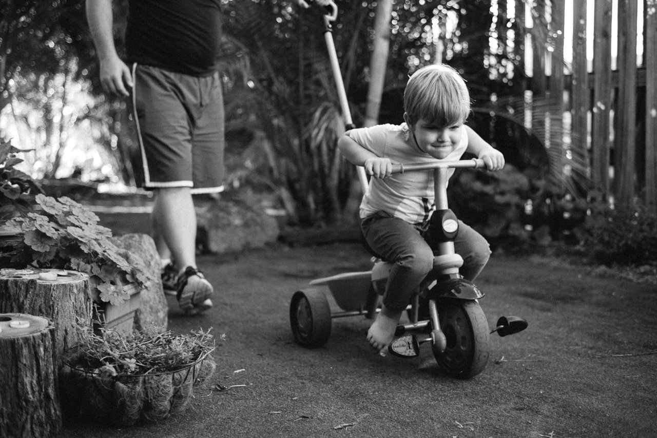 Tricycle racer Harry