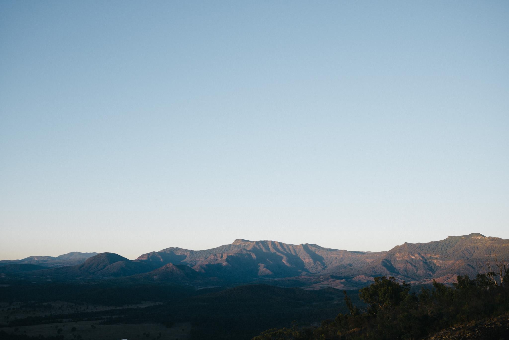 Main range including Mount Roberts, Queensland, seen from eastern slopes of Mount Greville.