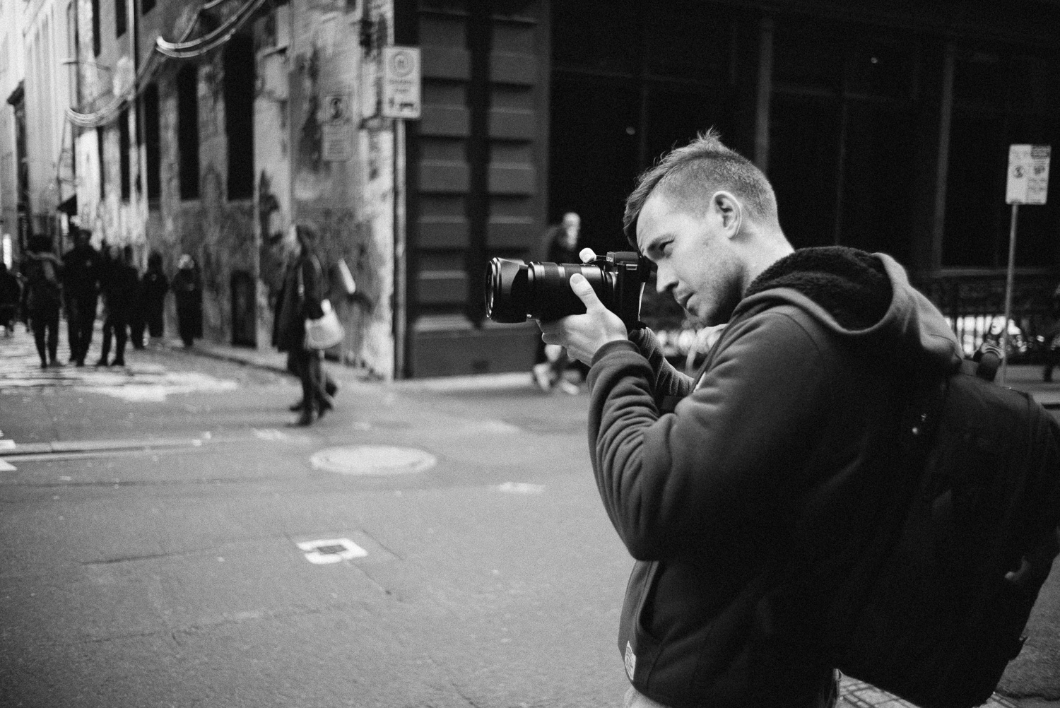 Connor with the Leica SL.