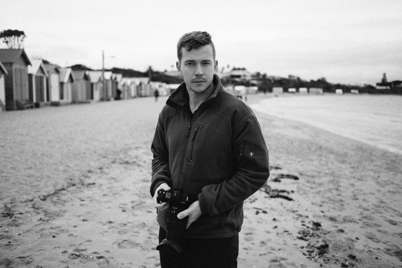 Connor at Brighton Beach.