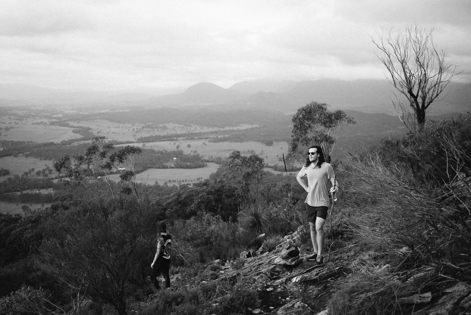 I took Steve and Larissa up the eastern slopes of Mount Greville.