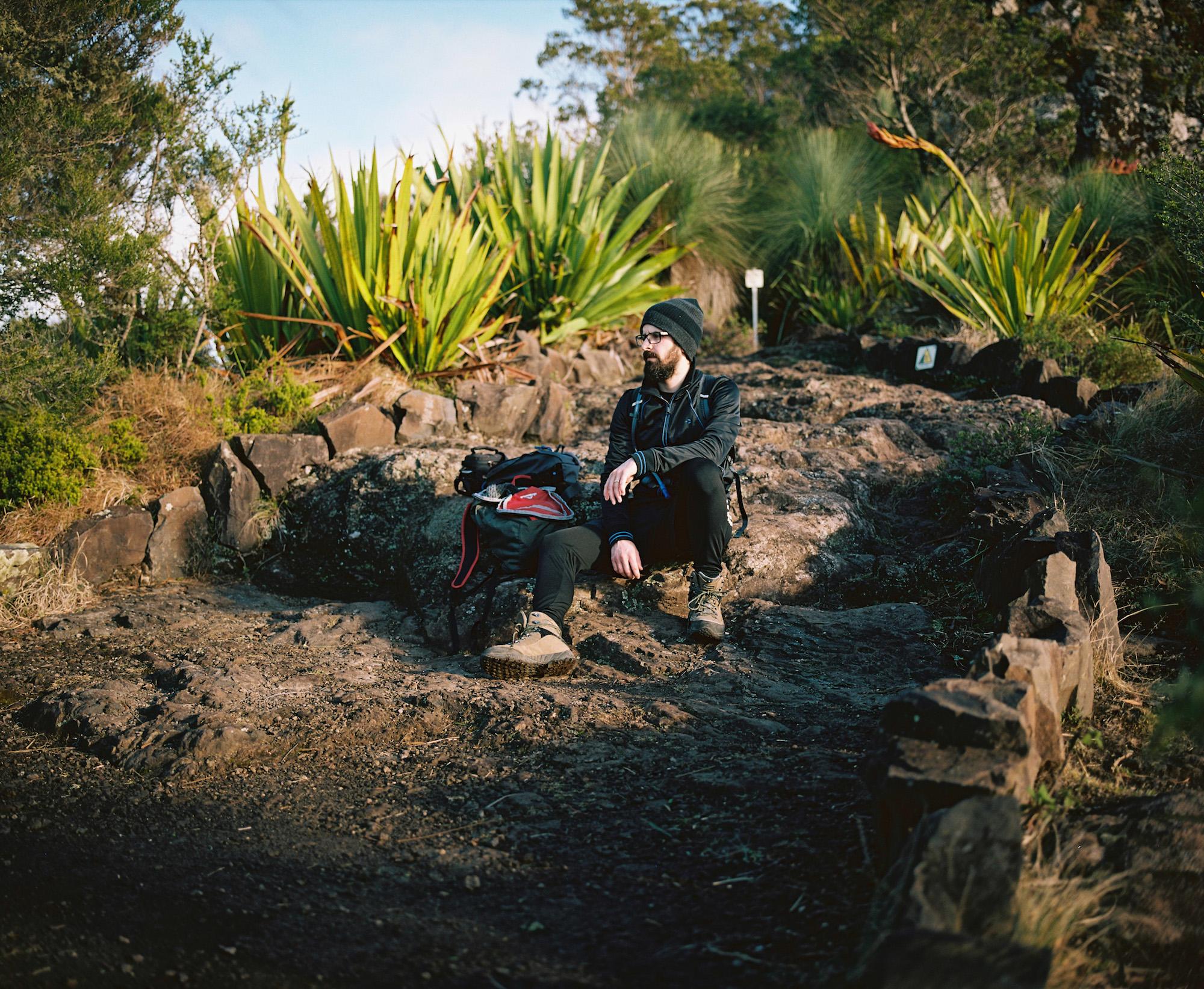 My hiking buddy Dash shot on Mamiya 7 medium format 6x7 using Kodak Portra 160 film.