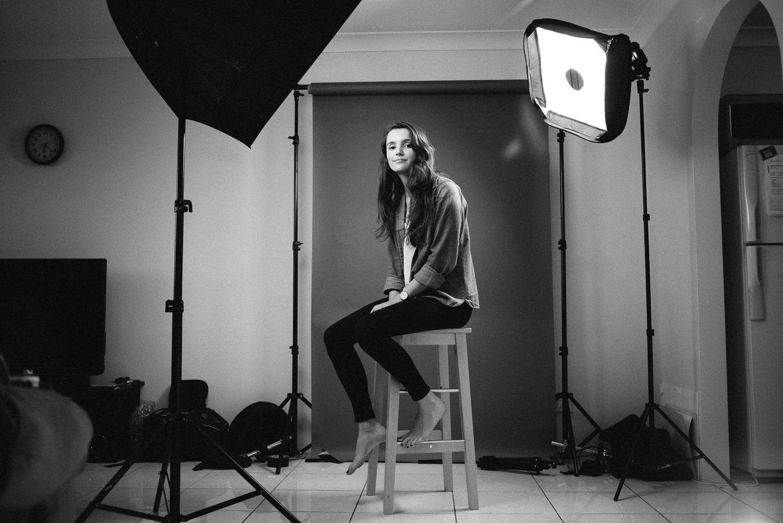 Studio portraits with Jodie Rees.