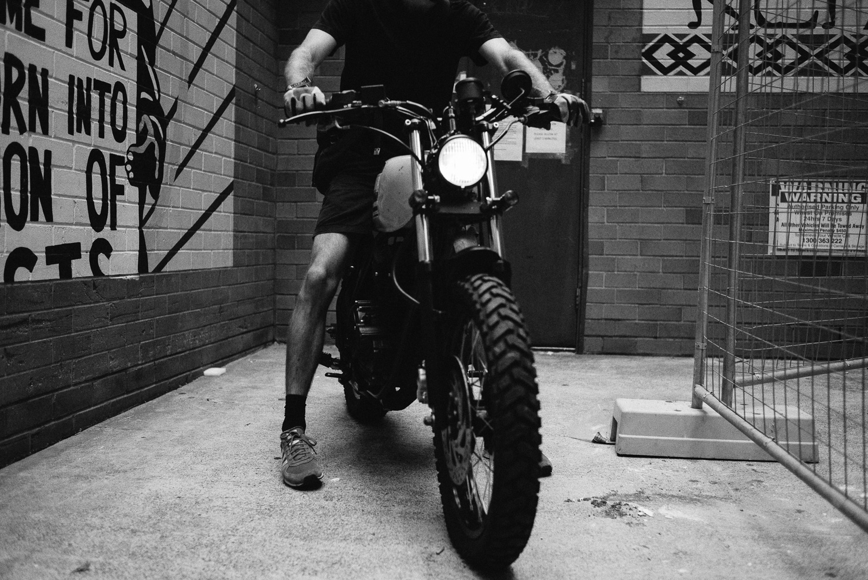 Jeremy on his Yamaha.