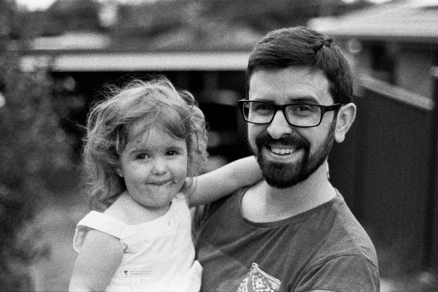 This was an old bulk roll of TRI-X but one of my favourites of Dash and Hannah.