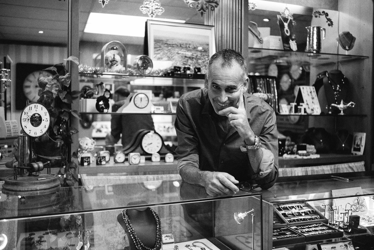 Ian in his shop of time.
