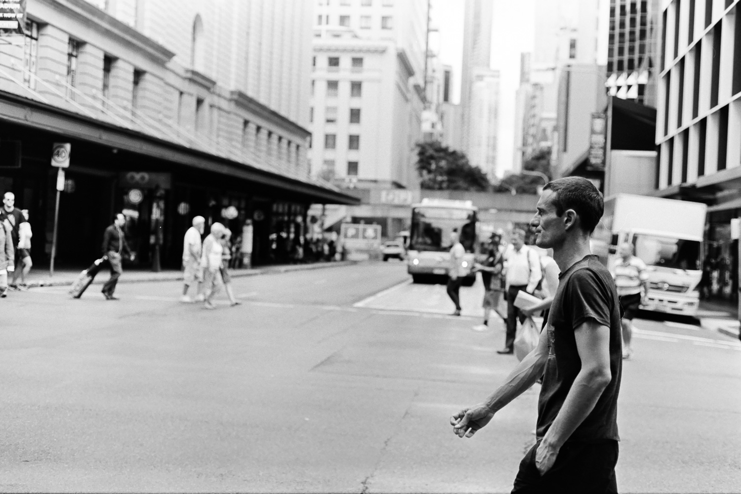 50mm street photo on Fuji Acros.