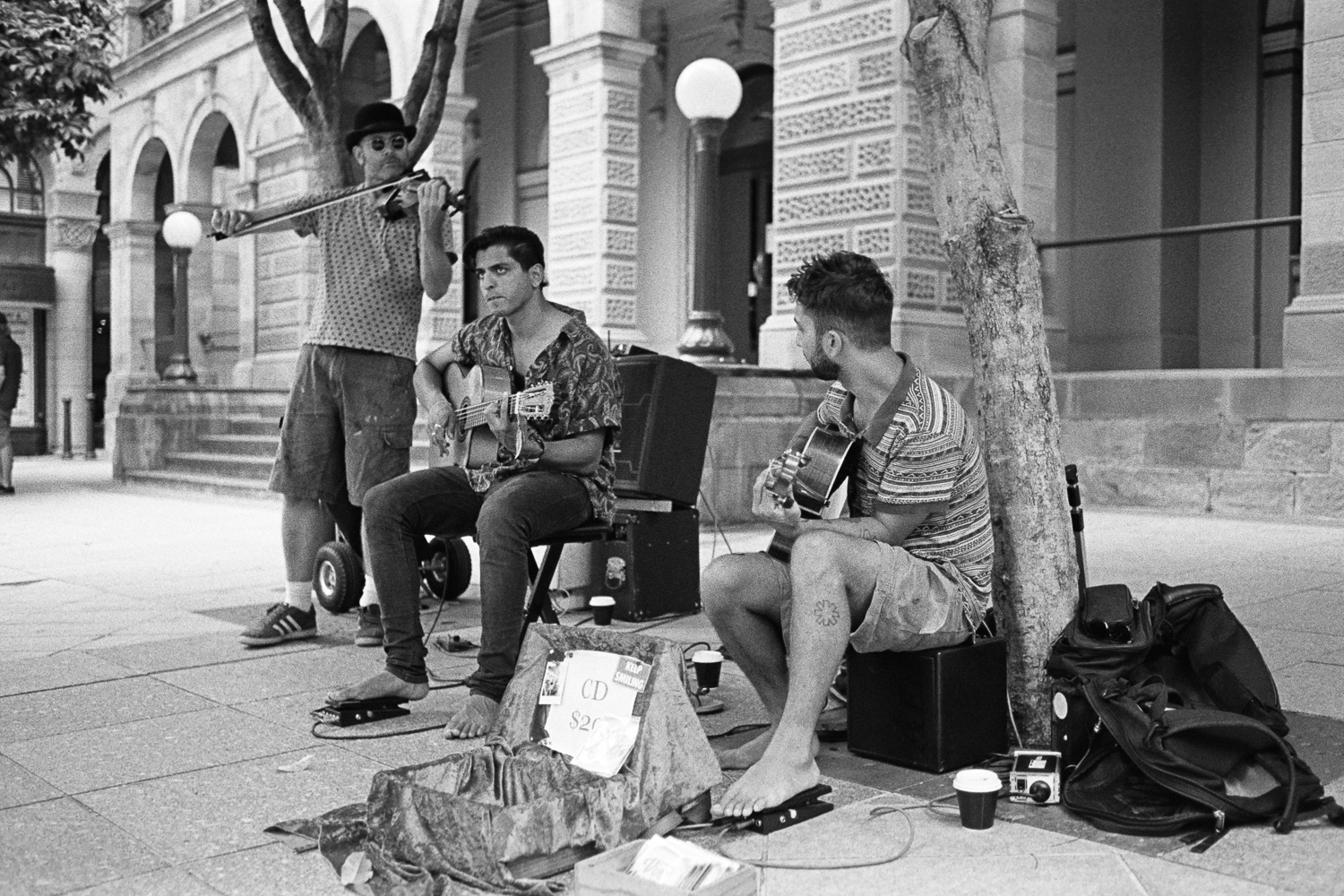 AA014-Nick-Bedford,-Photographer-Black and White, Brisbane, Buskers, Film, Film Scanning, Kodak Tri-X 400, Nikkor 35mm F2 AI-s, Nikon FA, Pakon F135+, Rodinal, Street Photography, Summer.jpg