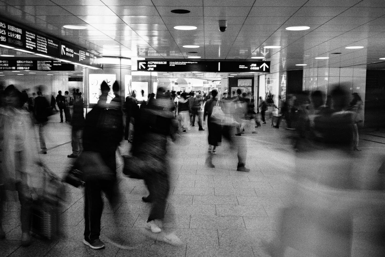 Shinjuku long exposure.