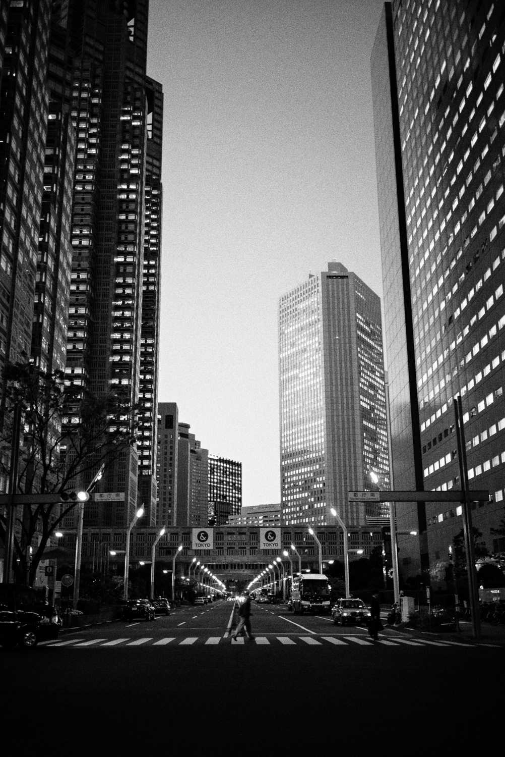 Business district in Shinjuku, on our way to Park Hyatt and New York Bar.