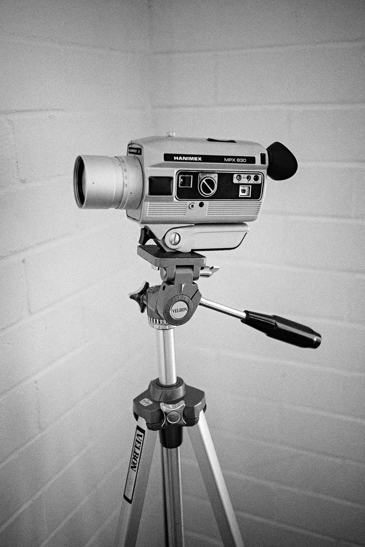 Tyler's Hanimex 8mm motion picture film camera.