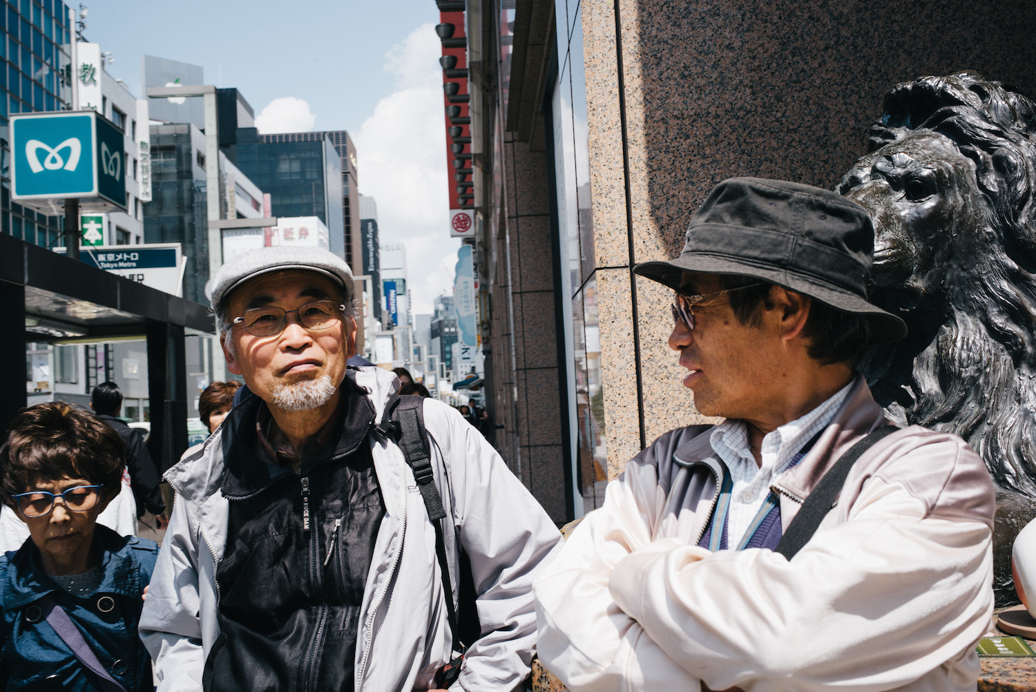 Street moments in Ginza.