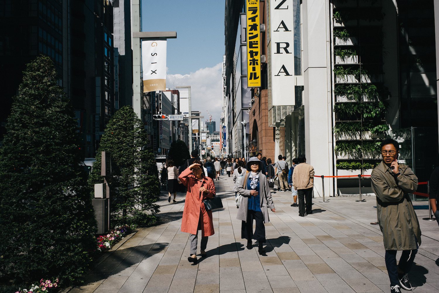 Ginza reminds me of Oxford Street in London, probably for a reason.