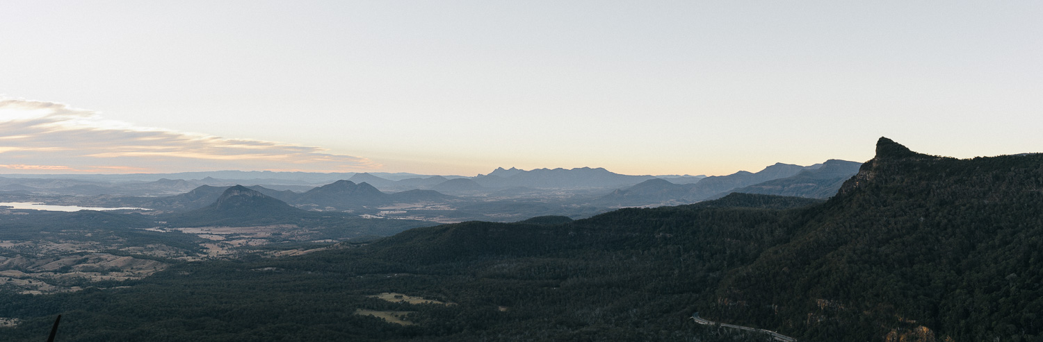 South East Queensland from Mount Cordeaux.