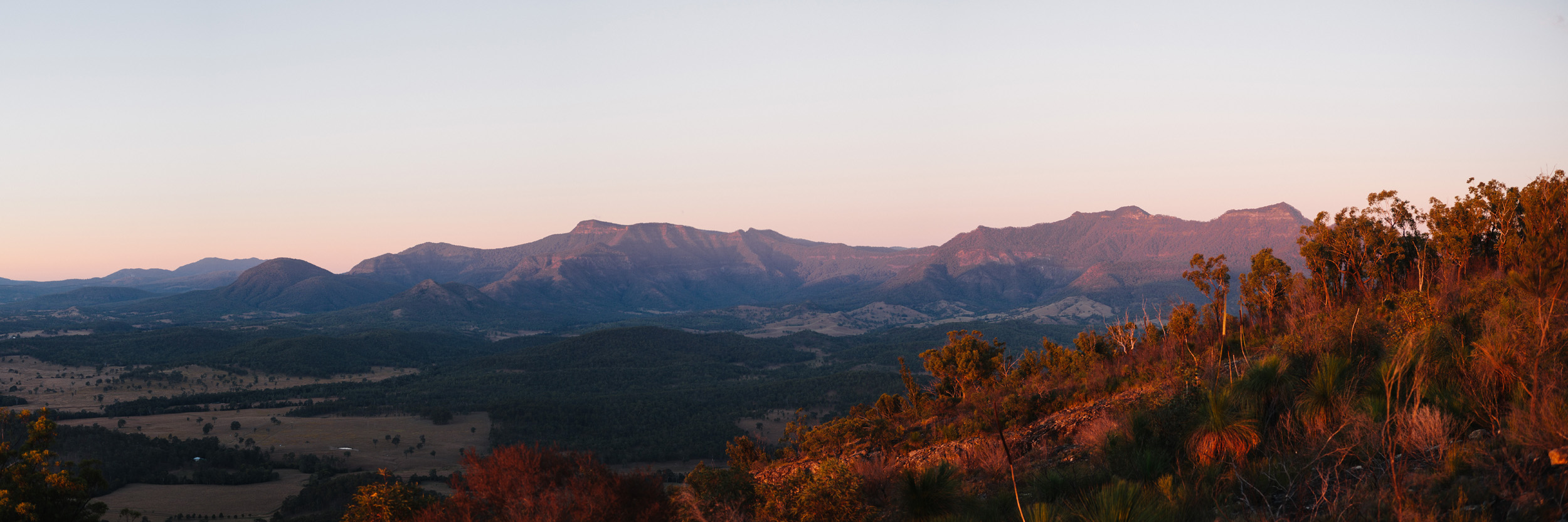 Mount Roberts from Mount Greville, QLD in mid-2016.