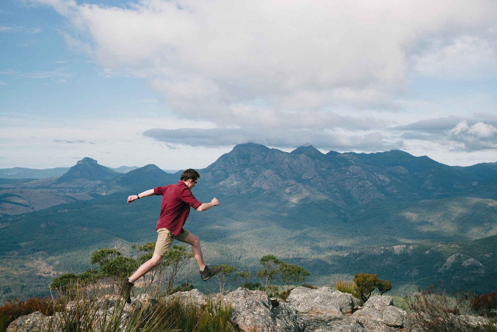 Me on Mount Maroon overlooking Mount Barney National Park in South East Queensland.