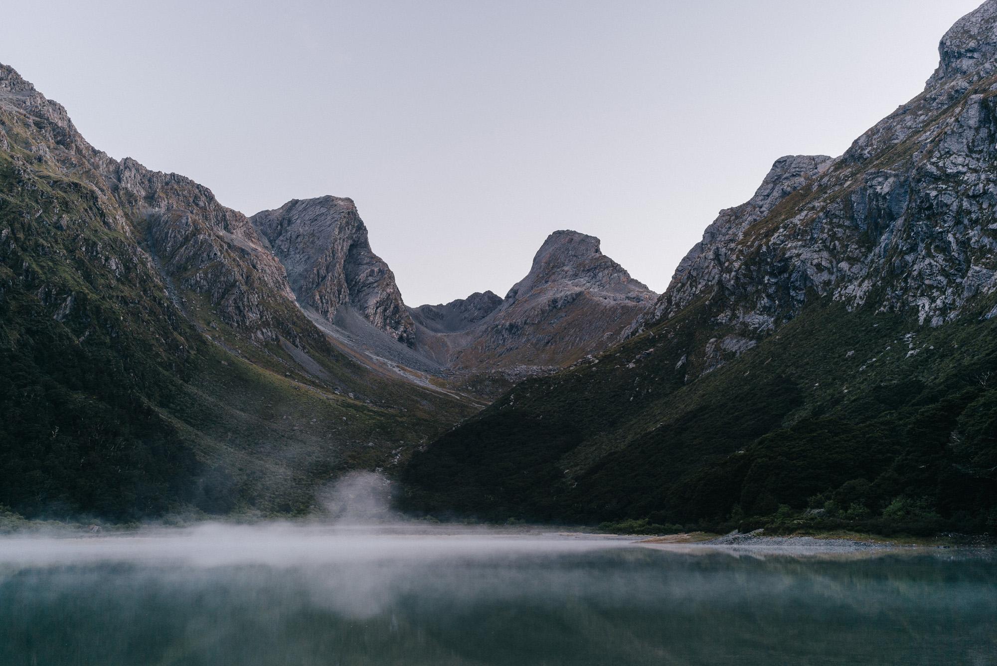 Emily Peak over Lake Mackenzie, New Zealand