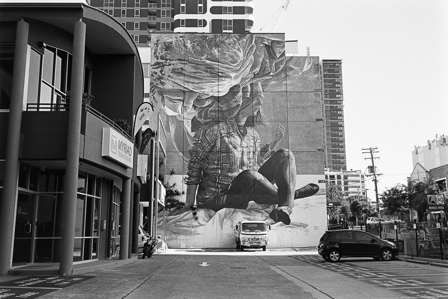 I've never seen this mural. Brilliant.