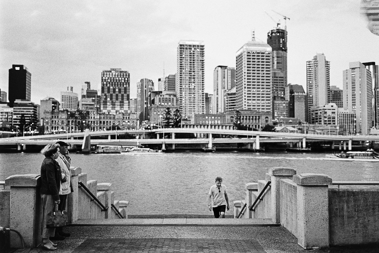 Brisbane at dusk.