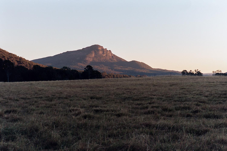 Mount Maroon from Mount Barney Lodge on Kodak Portra 160.