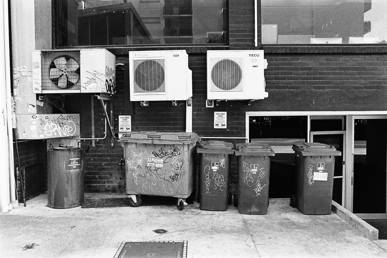 Dumpsters, man.