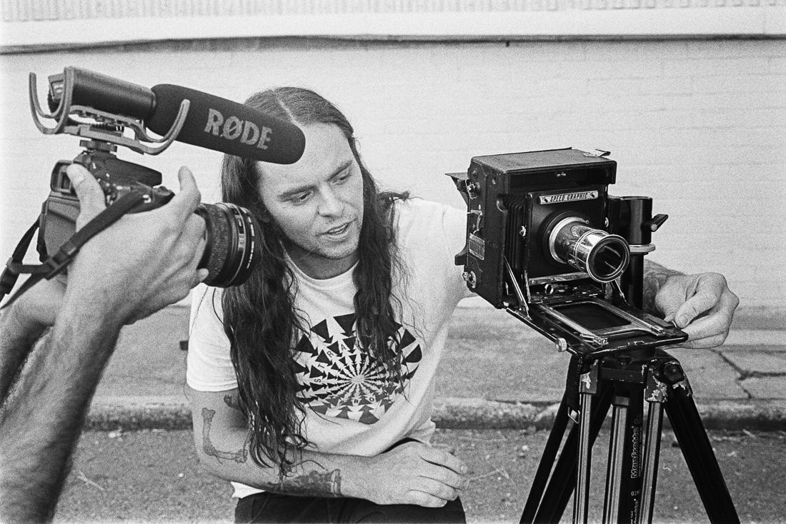 Shooting a 4x5 large format photography video with Luke Henery and Josh Ochoa.