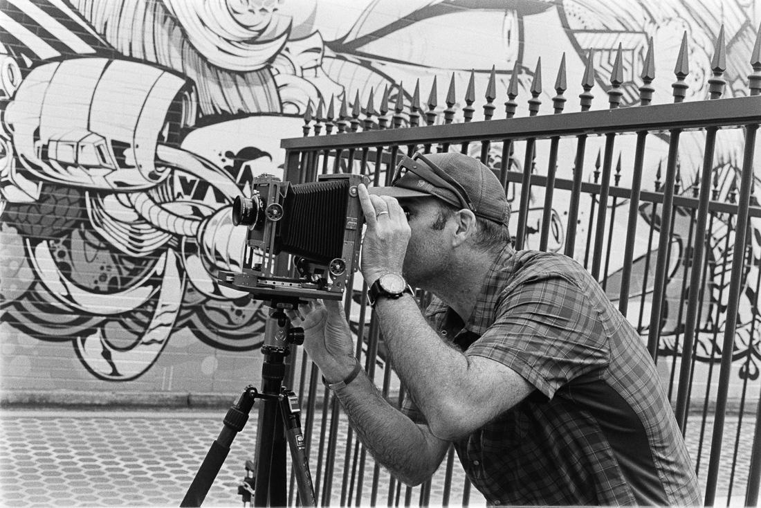 Allan with his new Chamonix 45F2 field camera.