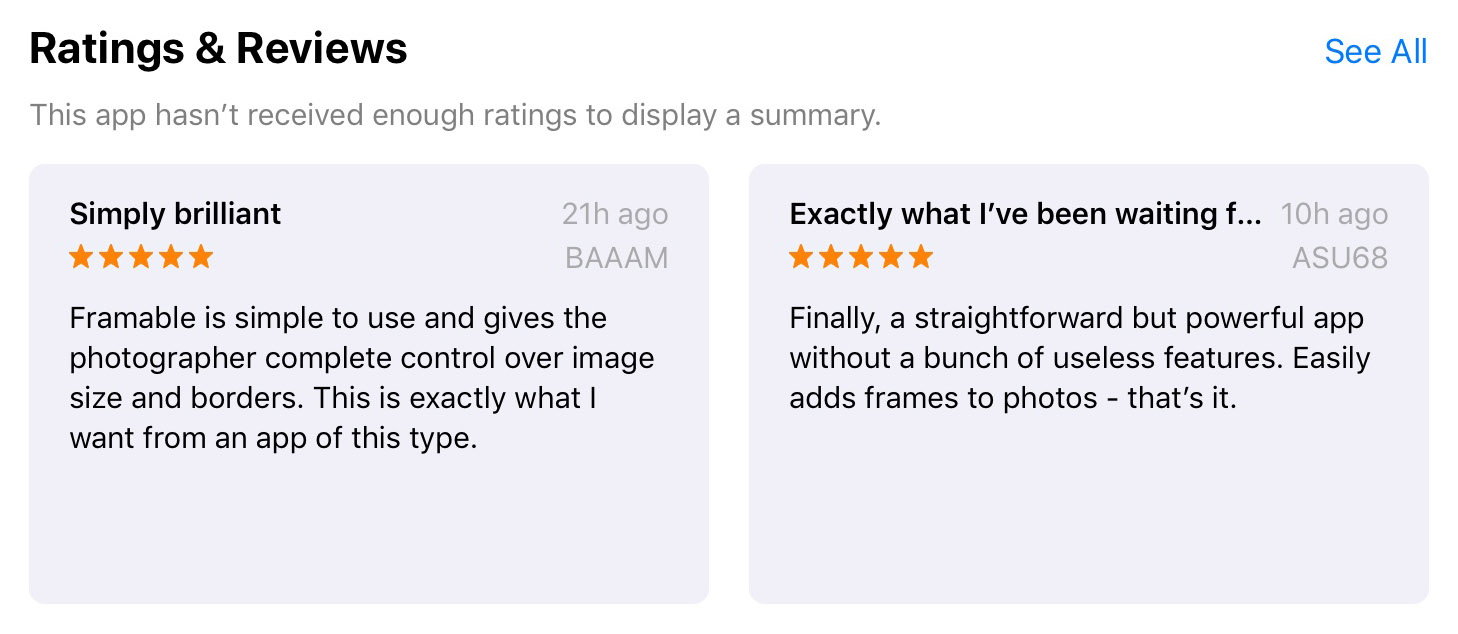 Frameable, iPhone, iPad, Apple App Store, Instagram, Printing, Framing, Social Media, User Reviews.jpg
