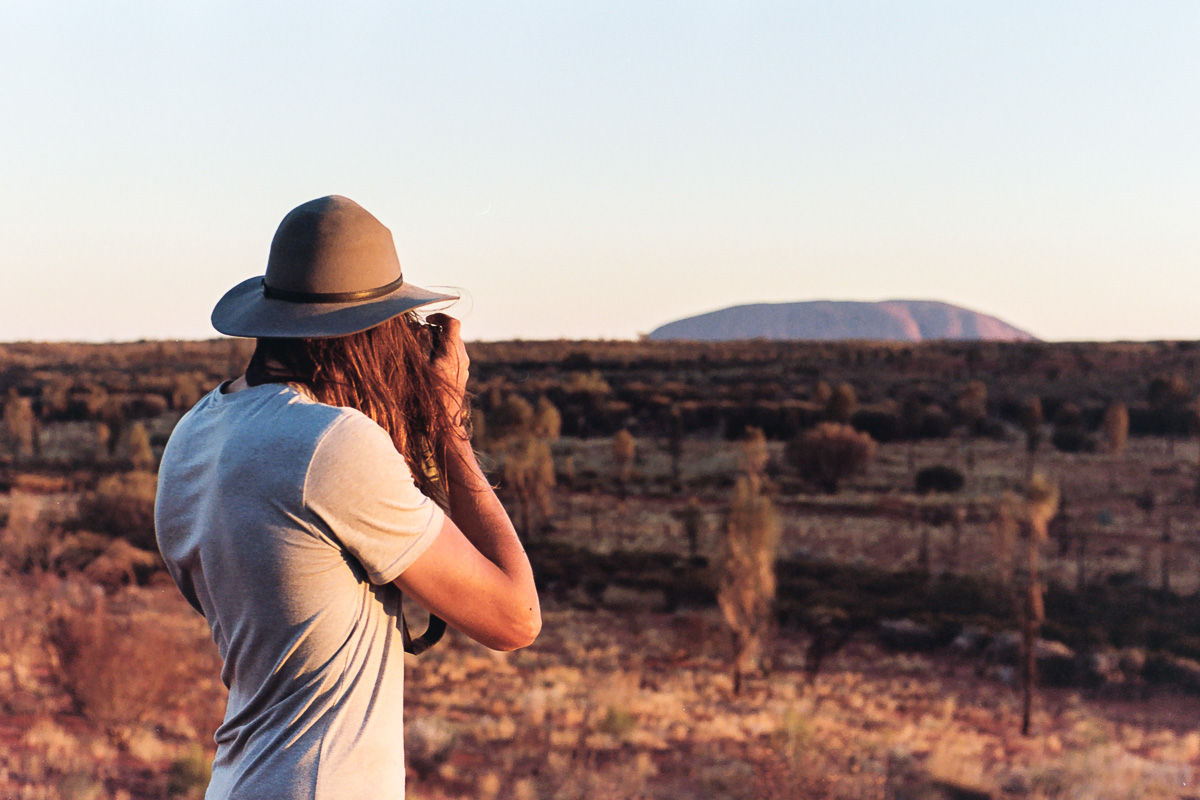 Jimmy in front of the national icon, Uluru.