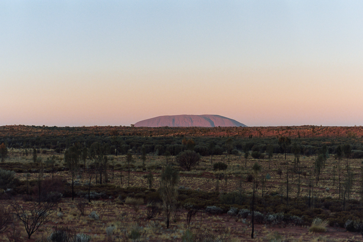 Uluru at sunrise.