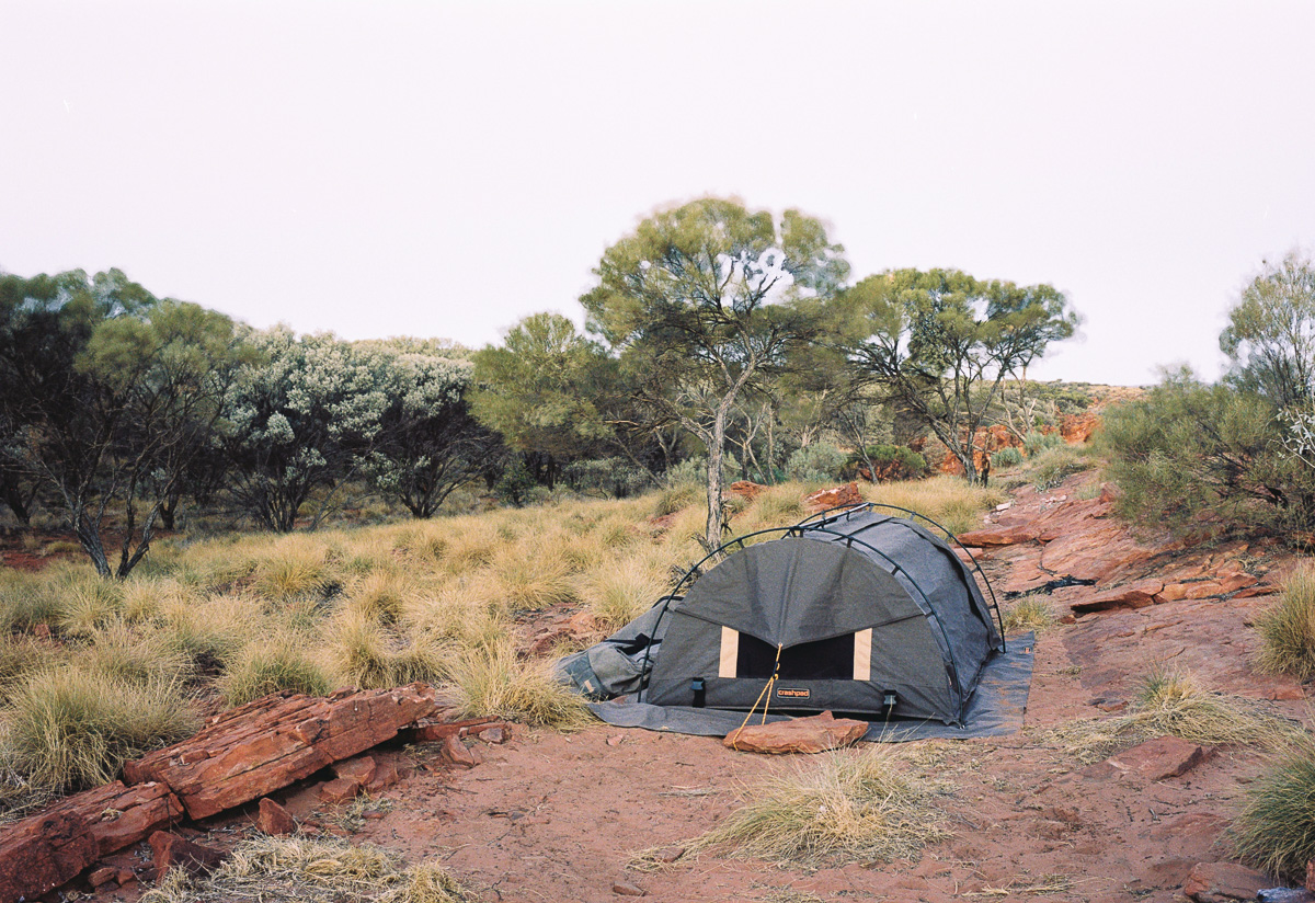 Camping out of King's Canyon up the Larapinta Trail.