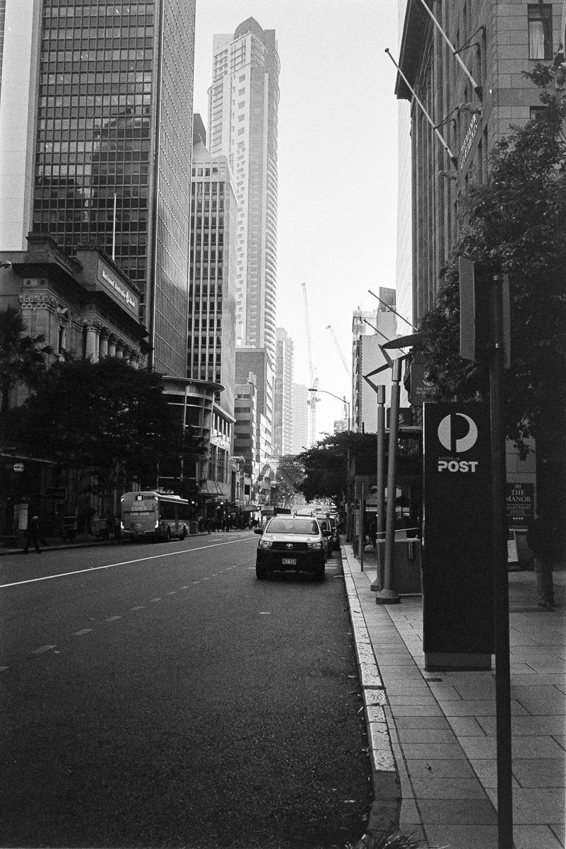 City streets in Brisbane.